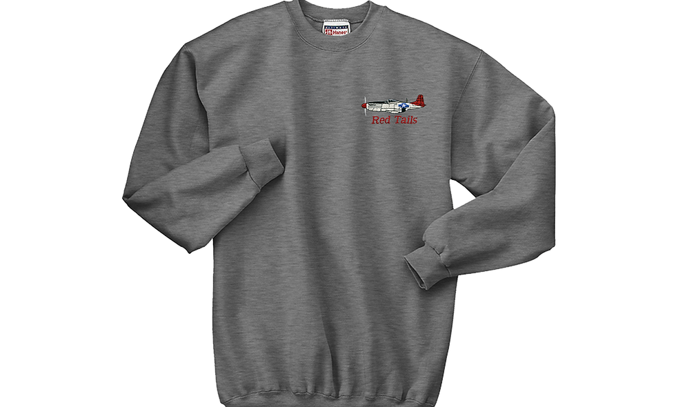 "P-51 ""Red Tails"" Crew Neck Fleece"