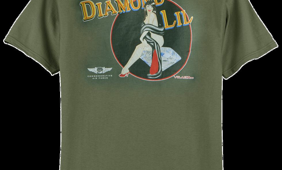 "B-24 Liberator ""Diamond Lil"" Nose Art T-shirt"
