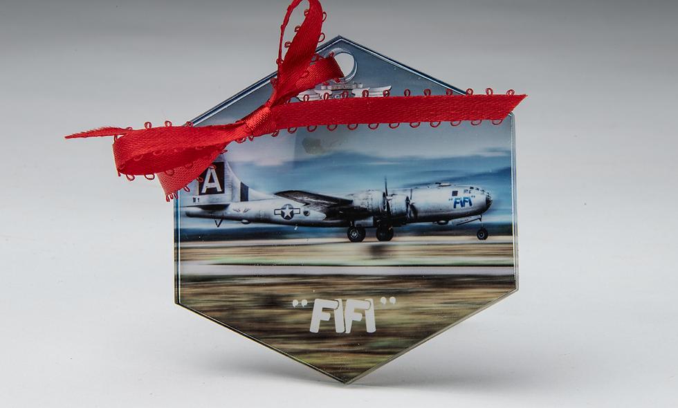 Acrylic Hexagon Christmas Ornament