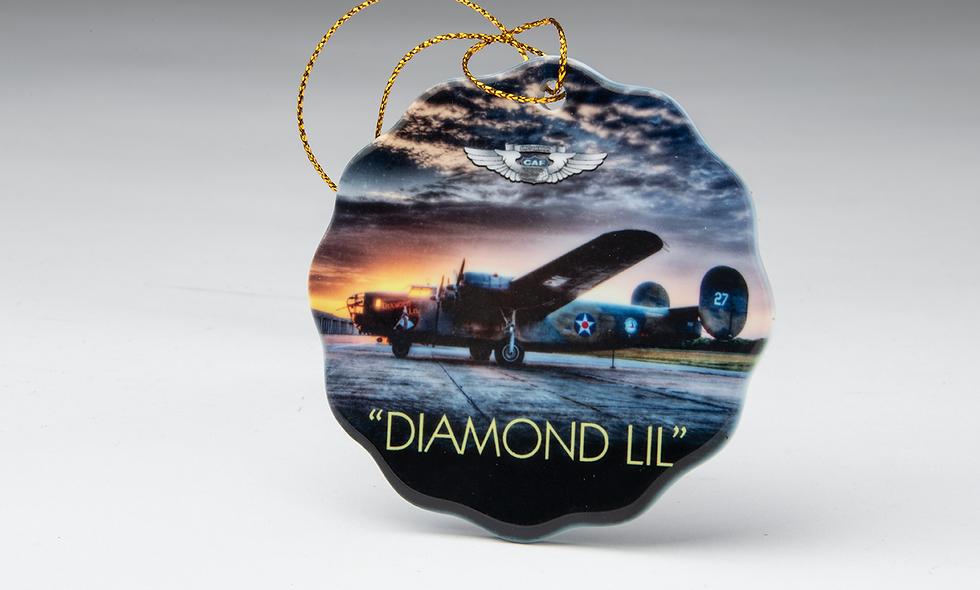 Porcelain Scalloped Christmas Ornament