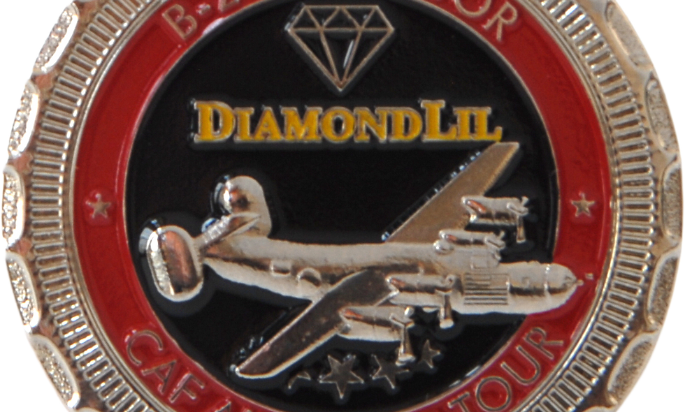 "B-24 Liberator ""Diamond Lil"" Challenge Coin"
