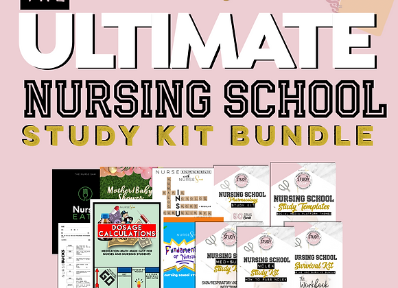 Ultimate All-in-one NCLEX Study Kit Bundle