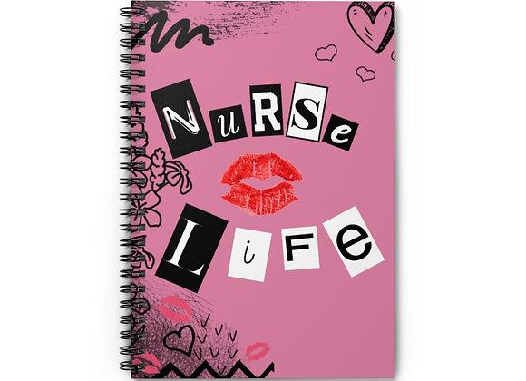 Nurse Life Spiral Notebook