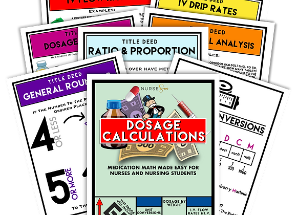 Dosage Calculations Study Kit (eBook)
