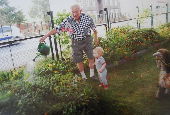 dziadek and maksi watering.jpg