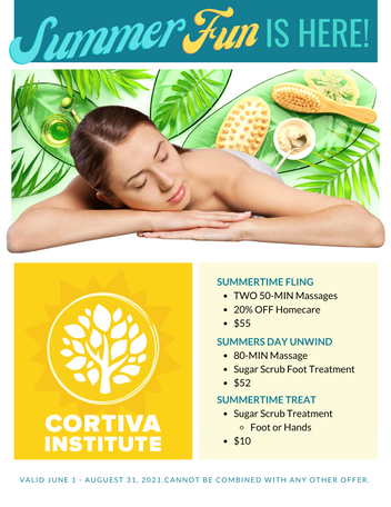 The Spa at Cortiva - Summer 2021 Promoti