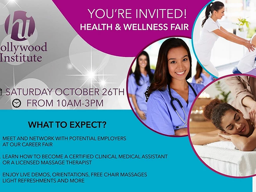 Hollywood Institute Invites You to Their Health & Wellness Fair!!!