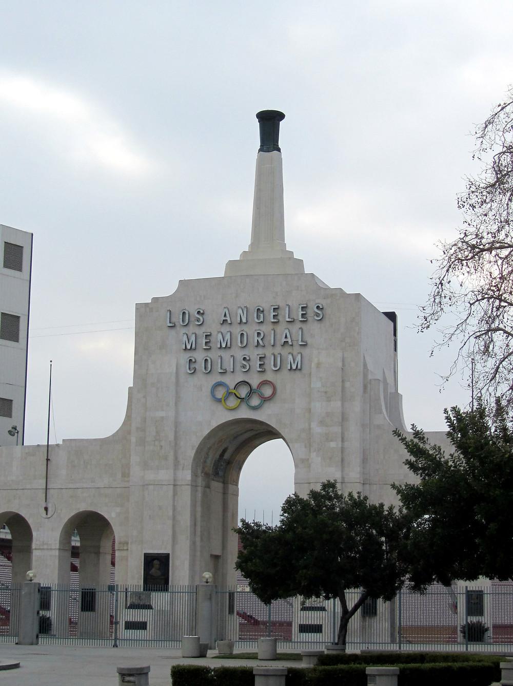 ロサンゼルス五輪のメモリアルコロセウム。1923年に完成したこの野外スタジアムは32年、84年の大会に続き、2028年大会でも使用される予定だ(C)David Iones