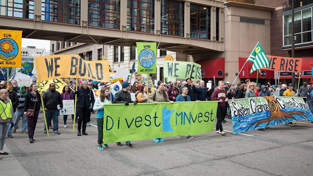 ©Fibonacci Blue 2017年4月29日のミネソタ州の気候変動に対するデモの様子