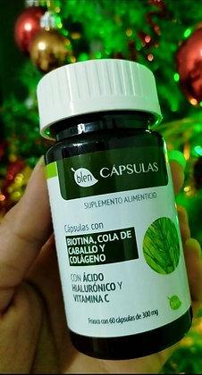 CÁPSULAS CON BIOTINA, COLA DE CABALLO Y COLÁGENO