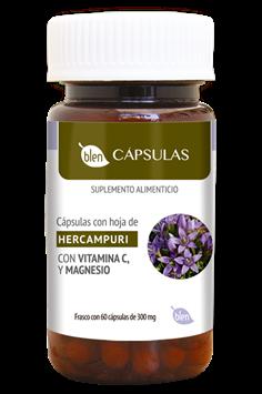 CÁPSULAS CON HOJAS DE HERCAMPURI