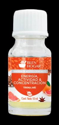 ACEITE ESENCIAL ENERGÍA, ACTIVIDAD & CONCENTRACIÓN