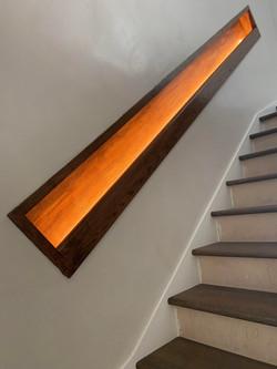 Custom banister with lighting