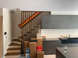 Staircase and fixtures