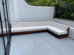 Custom outside seating area