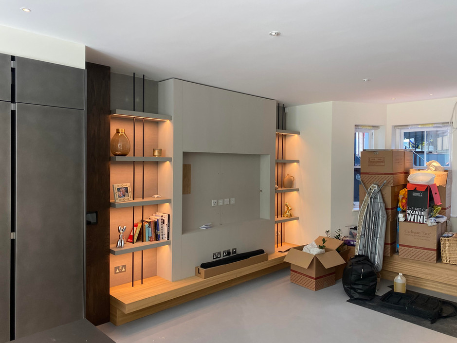 Entertainment unit and shelving