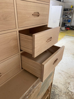 Custom chest of drawers being made in our workshop