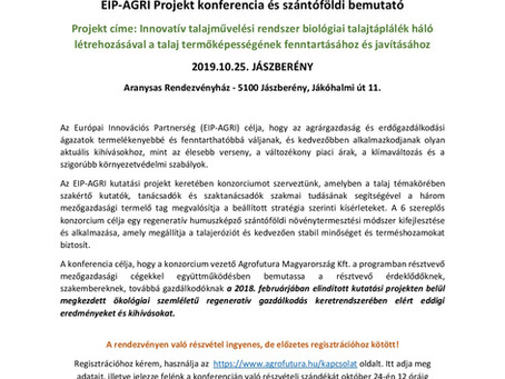 Meghívó EIP-AGRI Projekt konferenciára és szántóföldi bemutatóra