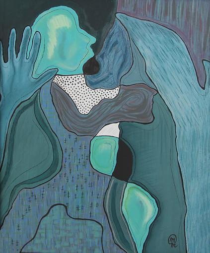 Autoportrait Turquoise