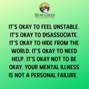 iT'S OKAY TO FEEL UNSTABLE. iT'S OKAY TO