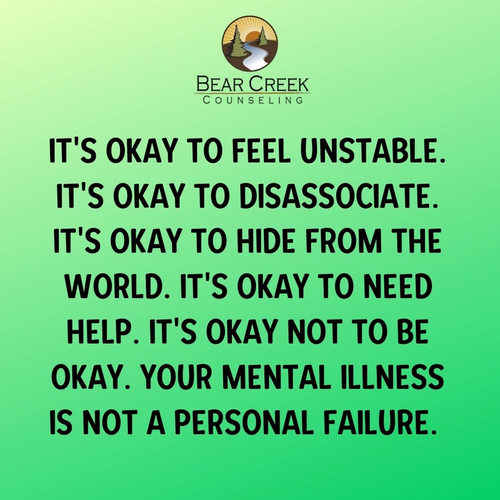 iT'S OKAY TO FEEL UNSTABLE. iT'S OKAY TO