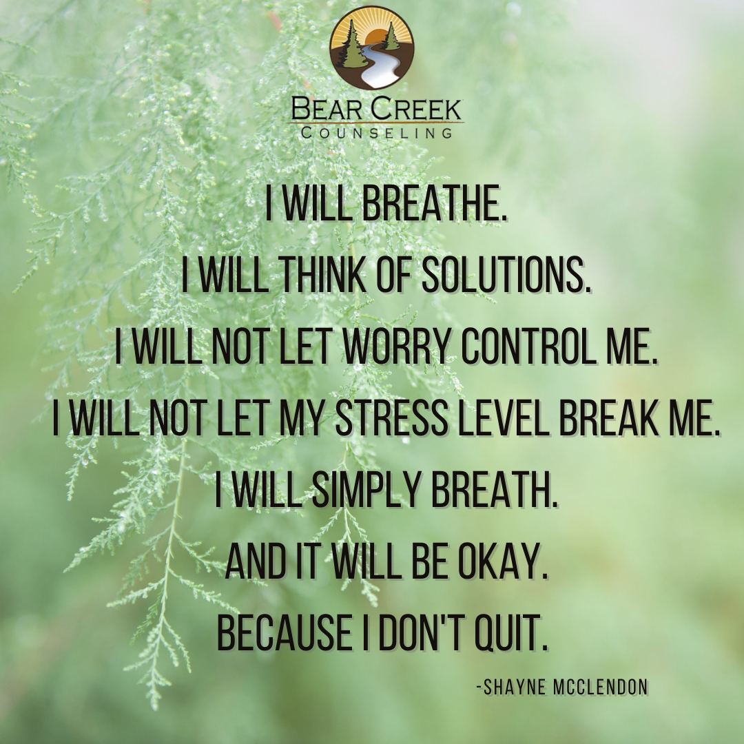 i will breathe. i will think of solution