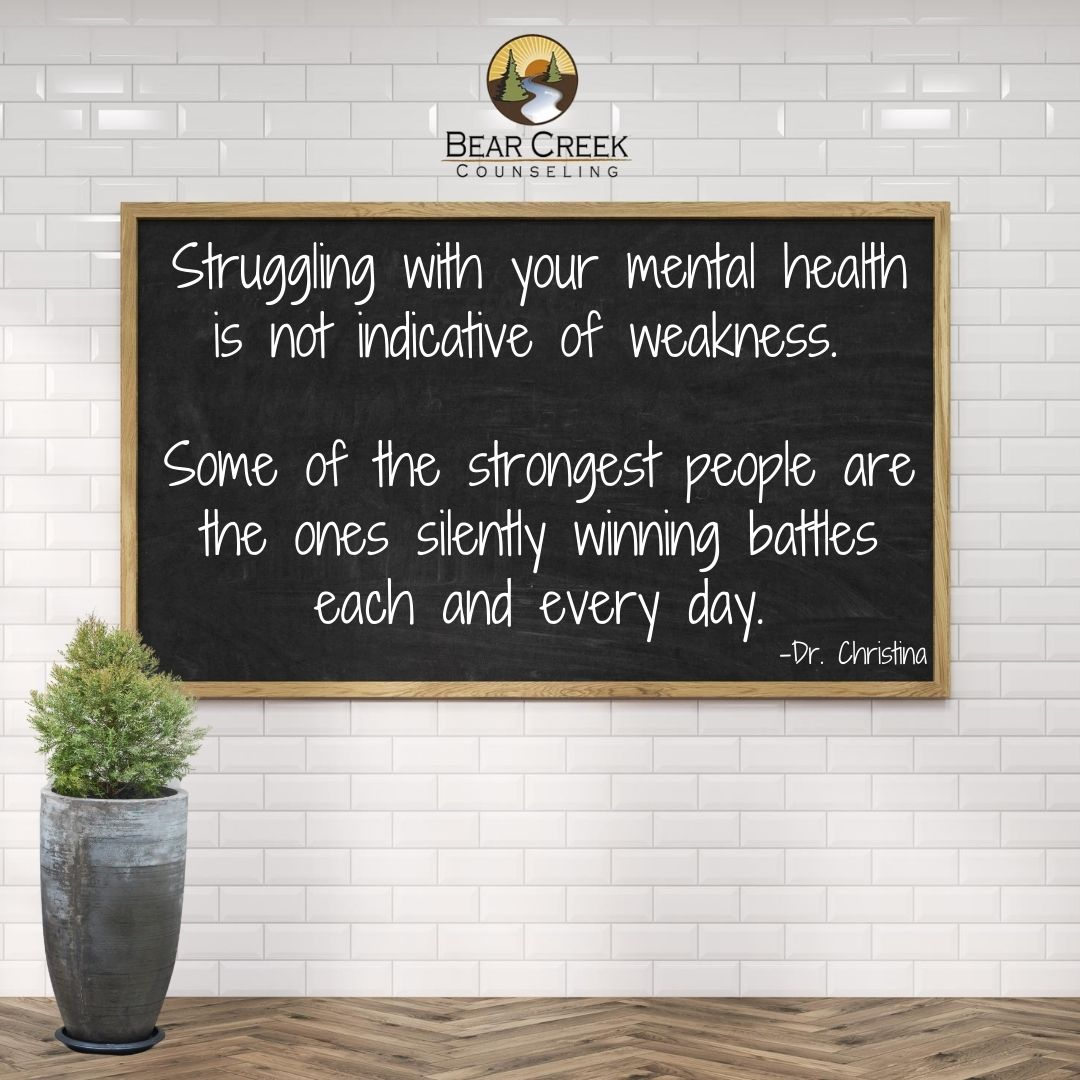Struggling with your mental health is no
