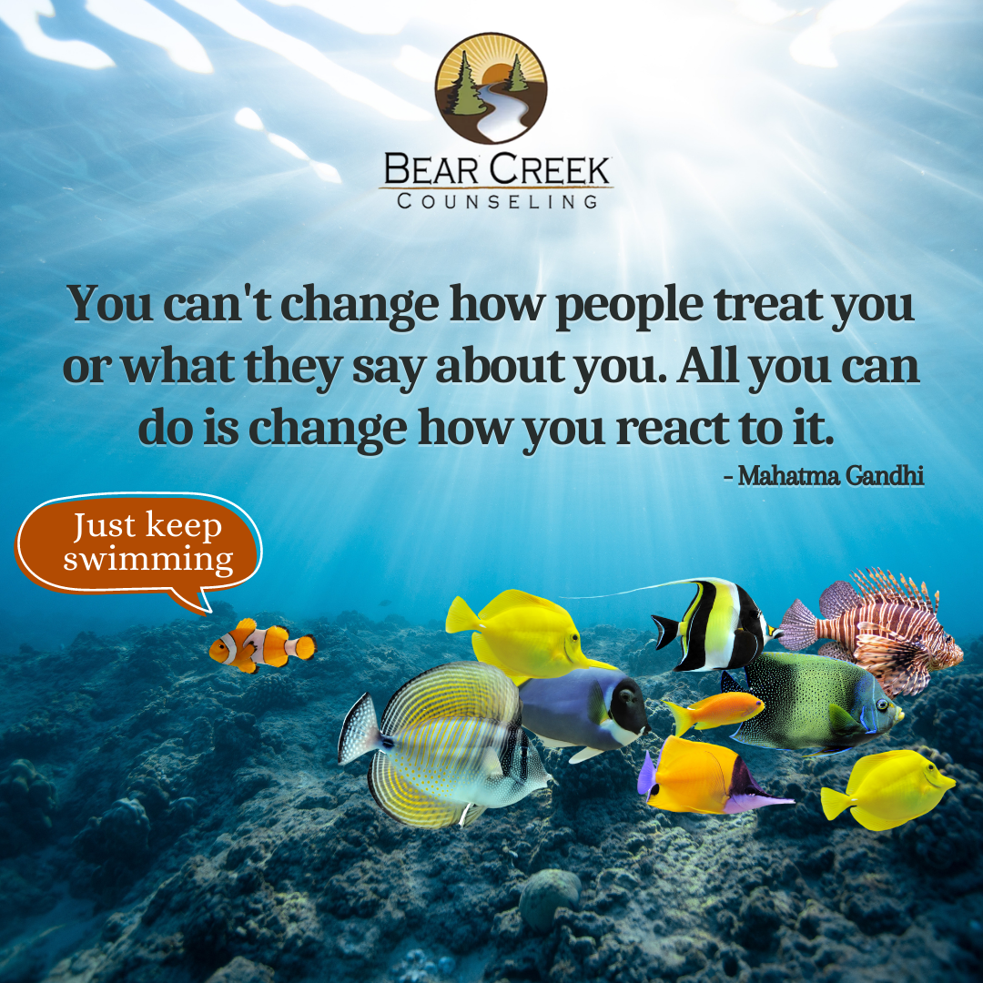 You can't change how people treat you or