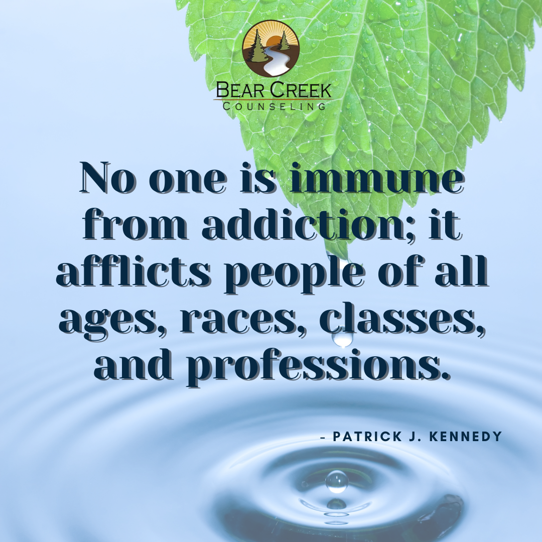 no one is immune from addiction; it affl