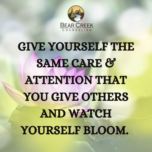 Give yourself the same care & attention