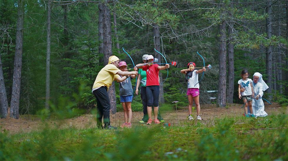 Camp de vacance et tir à l'arc au québec