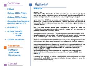 Newsletter n°10- Mars 2020