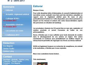news letter N°2 avril 2017