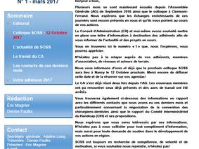 newsletter n°1-mars 2017