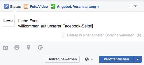 Facebook: mehrsprachig posten