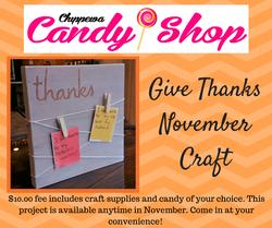 November Give Thanks Craft FB post