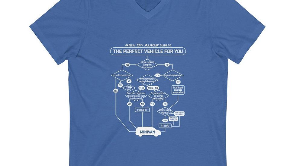 The Answer Is Always: Minivan - V Neck Tee