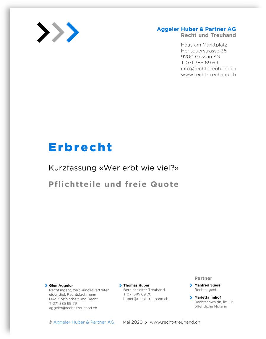 ERBRECHT - Kurzfassung «Wer erbt wie viel?»
