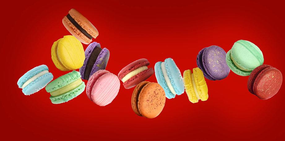 macarons_caindo_fundovermelho_horizontal