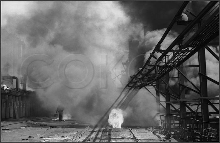 Люковая площадка коксового цеха. КМК. 15.05.1981