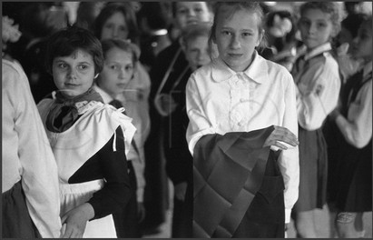 Прием в пионеры. Школа № 8. Новокузнецк. 30.05.1985