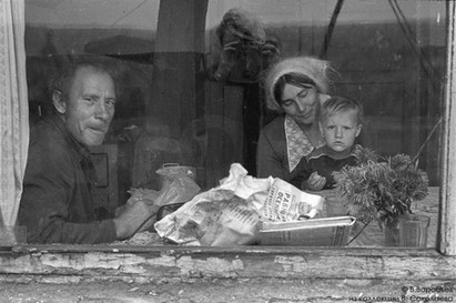 Семья на водокачке. Барнаул, 1983