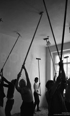 Побелка классного потолка.  Новокузнецк, 1982