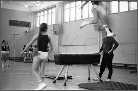 Спортивный класс одной из школ города, ученики которого создали спорткоманду, потренировались и выиграли всесоюзные игры среди пионеров и школьников. 19.11.1979.