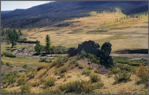 Скала Теве-Хая - Верблюд.Тыва.  6.09.2007
