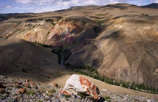 Каньон реки Кызылчик. Чуйская степь. Горный Алтай. 26.07.2006