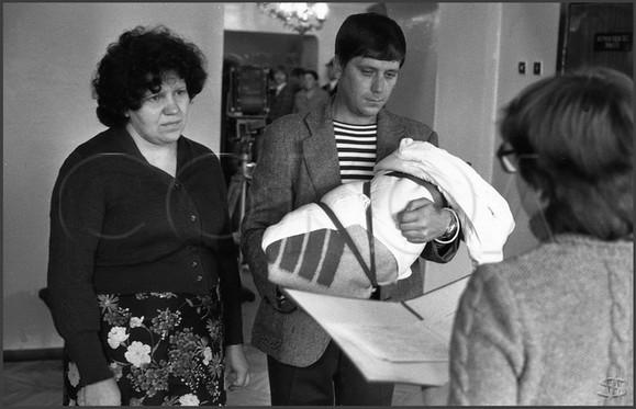 Торжественная регистрация новорожденного. Новокузнецк. 1.10.1983