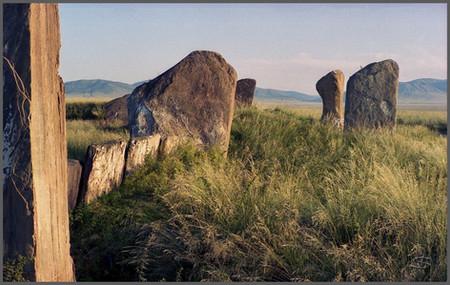 Большой Салбыкский курган. Восточная стена. Минусинская котловина