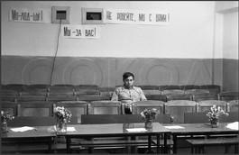 Обеденный перерыв в конкурсе бурильщиков. Учебная база буровиков. Поселок Елань. Новокузнецкий район. 25.05.1984