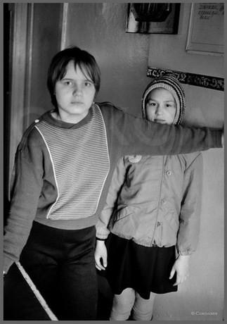 Наташа и Оля - портрет в узком месте. 15.04.1987